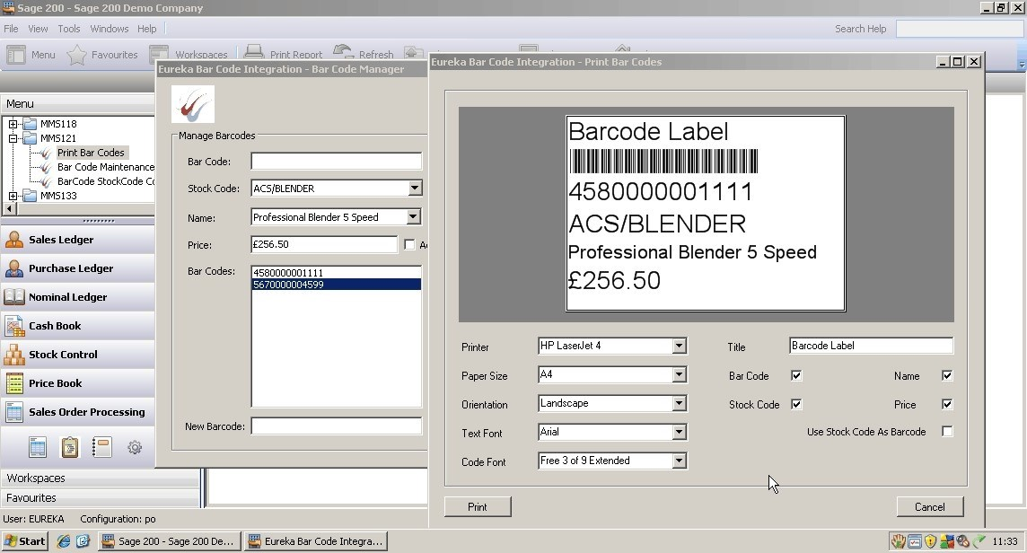 Sage 200 August Add-on of the month – Barcoding for Sage 200